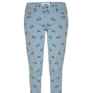 PAIGE Kylie Crop - Retro Cruiser Blue Pants 31